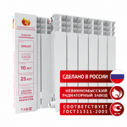 Радиатор алюминиевый НРЗ 500/100 Невинномысский Радиаторный Завод