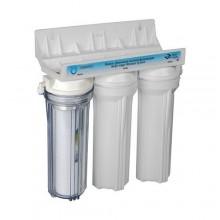 Фильтр 3 ступени (прозр; механ, умягчение, уголь) Aquatech (FDC300)