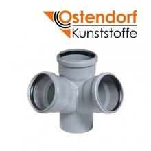 Крестовина угловая (двухплоскостная) Ostendorf HTED PP D110мм 67° для внутренней канализации